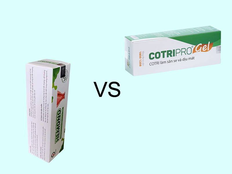 So sánh Hemono Gel và Cotripro Gel