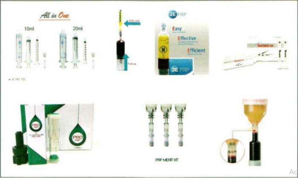 Hình 25-3 Bộ sản phẩm PRP đang được bán ngoài thị trường